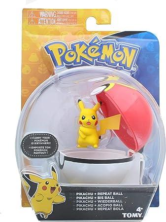POKEMON Clip N Carry Poke Ball con Pikachu Action Figure Giocattolo Set