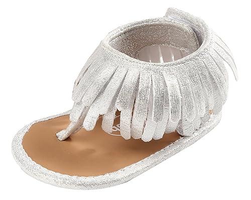 801fc0cd546 GEMVIE Chanclas Bebé Niña Plano Verano Primeros Pasos Suela Antideslizante  Borlas  Amazon.es  Zapatos y complementos