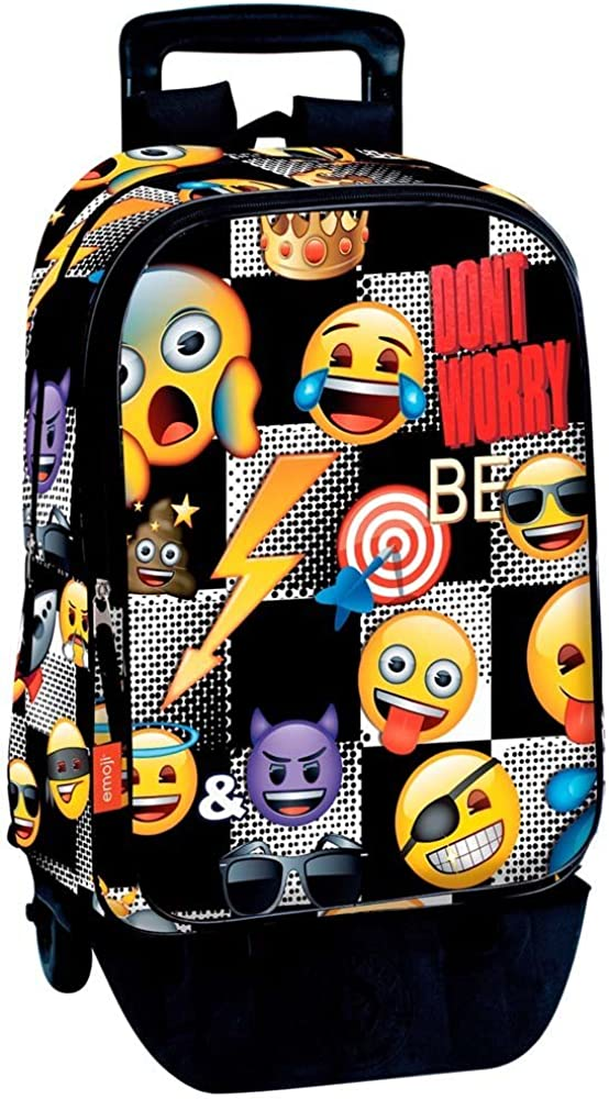 Emoji- Trolley, Color Multicolor (Multicolour), 43 cm (Montichelvo 55170)