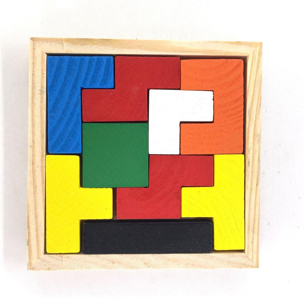 Chonor Casse-tête 3D avancé puzzle en bois#87- Classical KongMing Luban lock - Contester Votre Pensée Logique et de Tuer le Temps Ennuyeux - Pour les enfants et les adultes le meilleur cadeau - Neuf Tetris