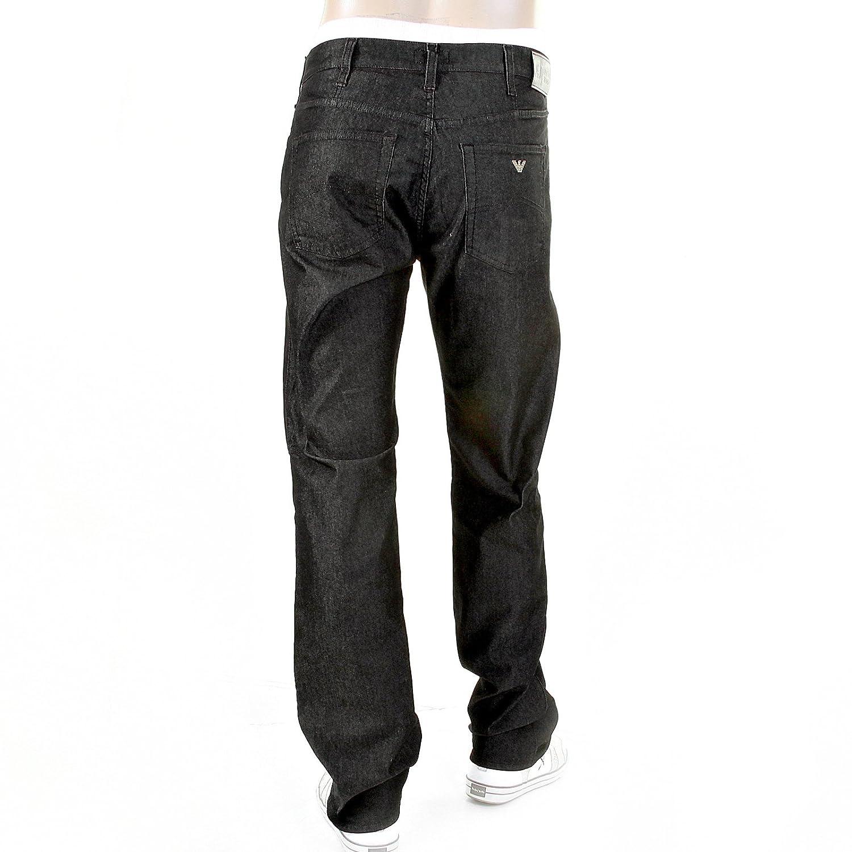 2878269456 Armani Jeans J31 regular fit O6J31 6C black stretch trousers jeans ...