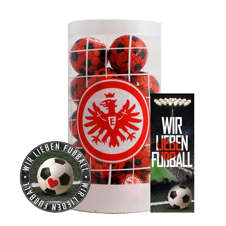 Schokofussb/älle Eintracht Frankfurt Schokokugeln Schokoladen Kugeln SGE Plus je 1 x Aufkleber /& Lesezeichen