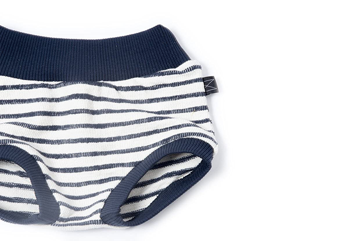 Monkind Stripy Bloomers for Newborn Girls and Small Kids 100/% Organic Cotton Baby Boys kbA Summer Shorts