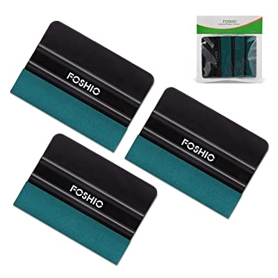FOSHIO 3Pack Black 4Inch Automotive Felt Squeegee for Auto Vinyl Wrap Window Tint Tool Wallpaper Tool: Automotive [5Bkhe1004793]