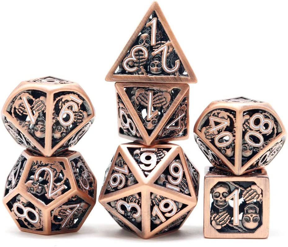 D20 rpg hollow dice hollow knight dnd dice set Greyhawk Hollow metal dice