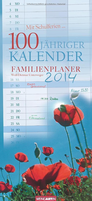 Familienplaner 100jähriger Kalender 2014