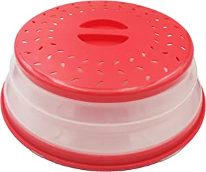 Collapsible Microwave Splatter Cover Vented Microwave Food Cover,Dishwasher Safe,BPA-Free Silicone & Plastic,10.5 Inch