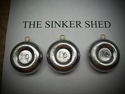 Lot of 12 Pyramid Fishing sinkers 4 of each 6 8 and 10 oz weights