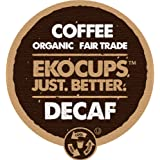 EKOCUPS Artisan Organic Decaf Coffee, Light Roast in, Recyclable Single Serve Cups for Keurig K-cup Brewers, 40 count