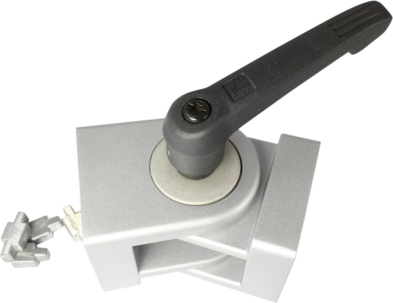8//10//lackiertpieds en aluminium moul/é sous pression Articulation 45 x 45 avec un levier par palier de nut