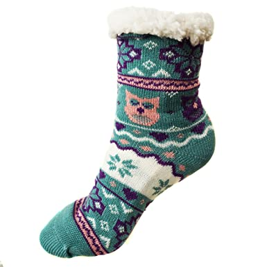 Mujer Calcetines térmicos ricos en algodón para resbalón para el invierno Modelo Mujer 31 [033]: Amazon.es: Ropa y accesorios
