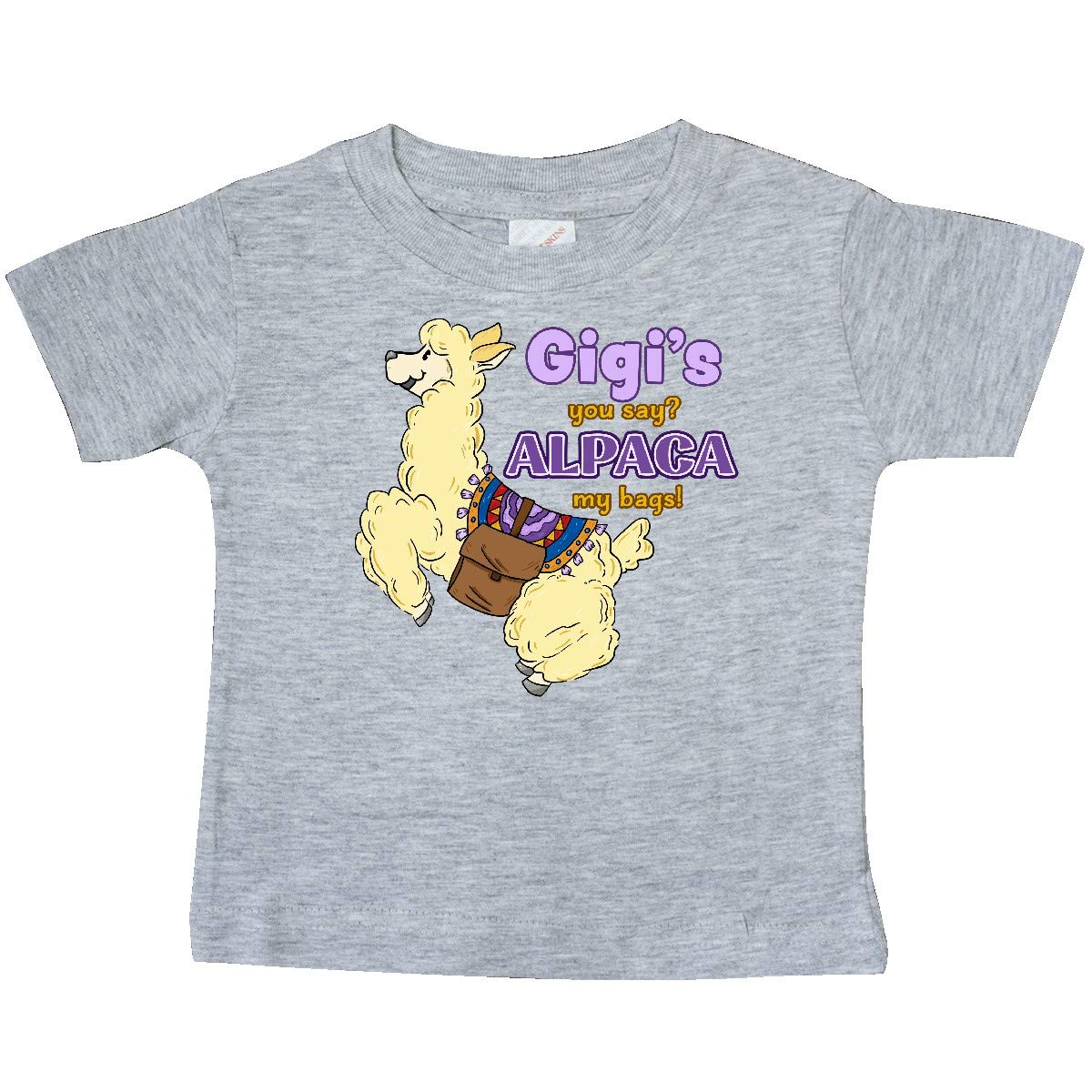 inktastic Gigis You Say Alpaca My Bags with Cute Jumping Alpaca Baby T-Shirt