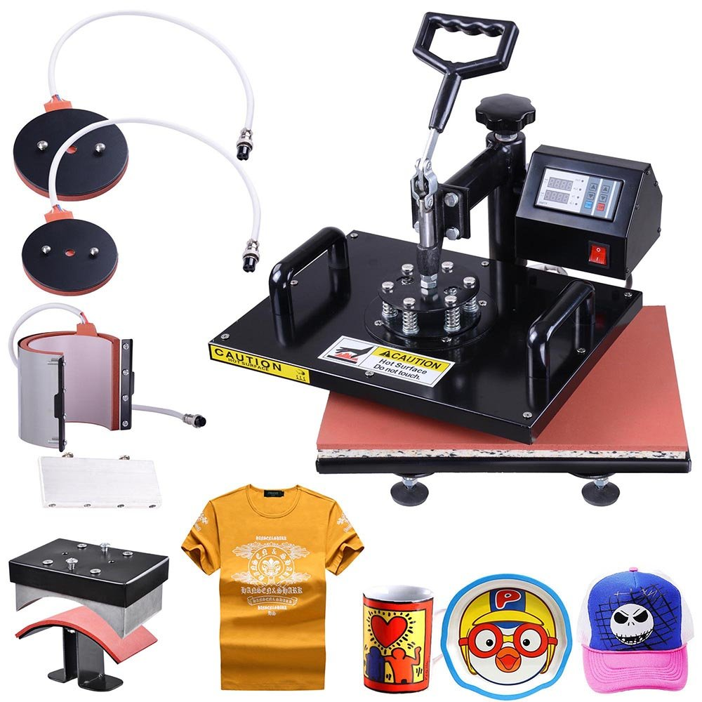 Yescom 5-in-1 12''x15'' Digital Heat Sublimation Transfer Press Machine 700W with Gloves by Yescom