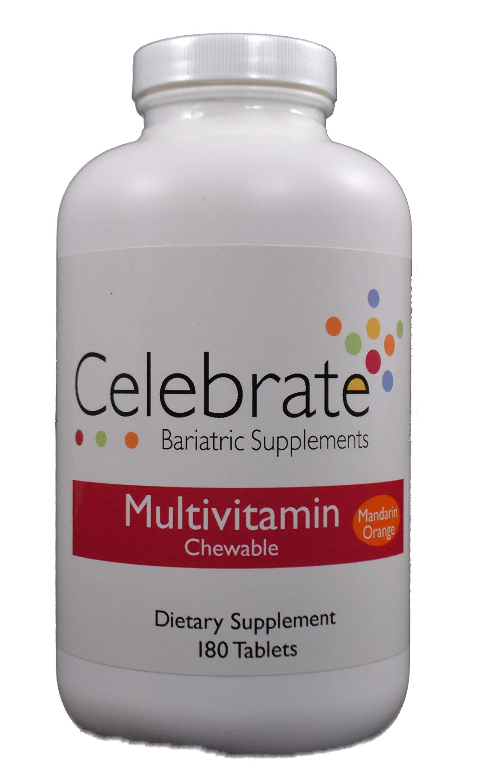 Celebrate Chewable Multivitamin, Mandarin Orange, 180 Per Bottle