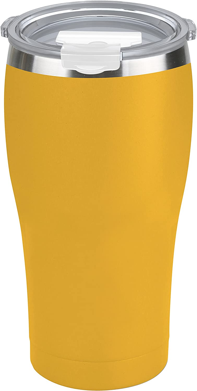 Tahoe Trails 20 oz Tumbler, Stainless Steel, Vacuum Insulated, Double Wall with Lid, Great for Cold or Hot Drinks, Mango