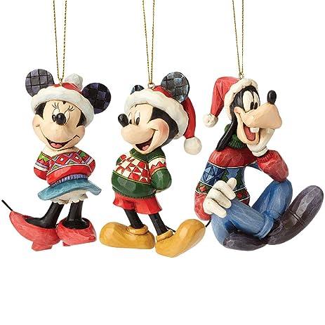 Disney Mickey Minnie And Goofy Christmas Holiday Tree Ornament 3 Piece Set - Amazon.com: Disney Mickey Minnie And Goofy Christmas Holiday Tree