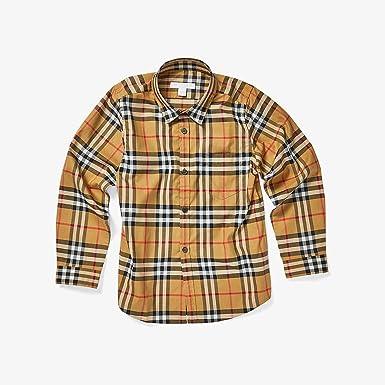 BURBERRY - Camisa - para niño Check 10 Años: Amazon.es: Ropa y accesorios