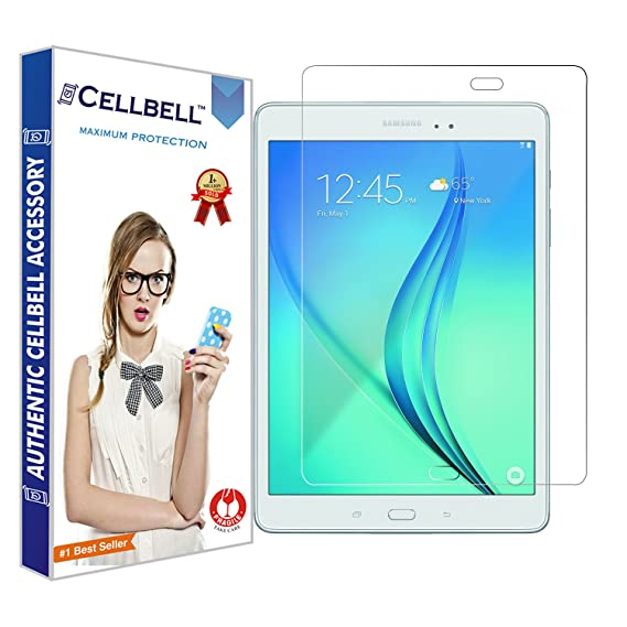 CELLBELL reg; Tempered Glass Screen Protector for Samsung Galaxy Tab A 9 7 SM T550 with Free Installation Kit Screen Protectors