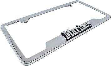 U.S MARINES MARINE  Chrome Heavy Duty Metal License Plate Frame