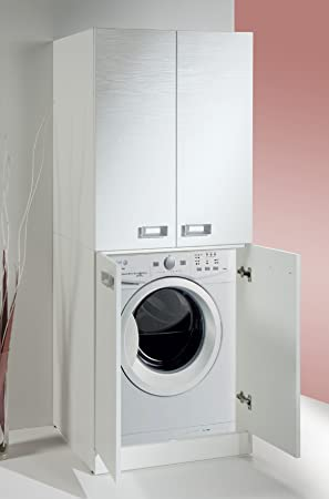 Meuble Pour Machine A Laver Avec Etagere De Rangement Personnalisable Amazon Fr Cuisine Maison