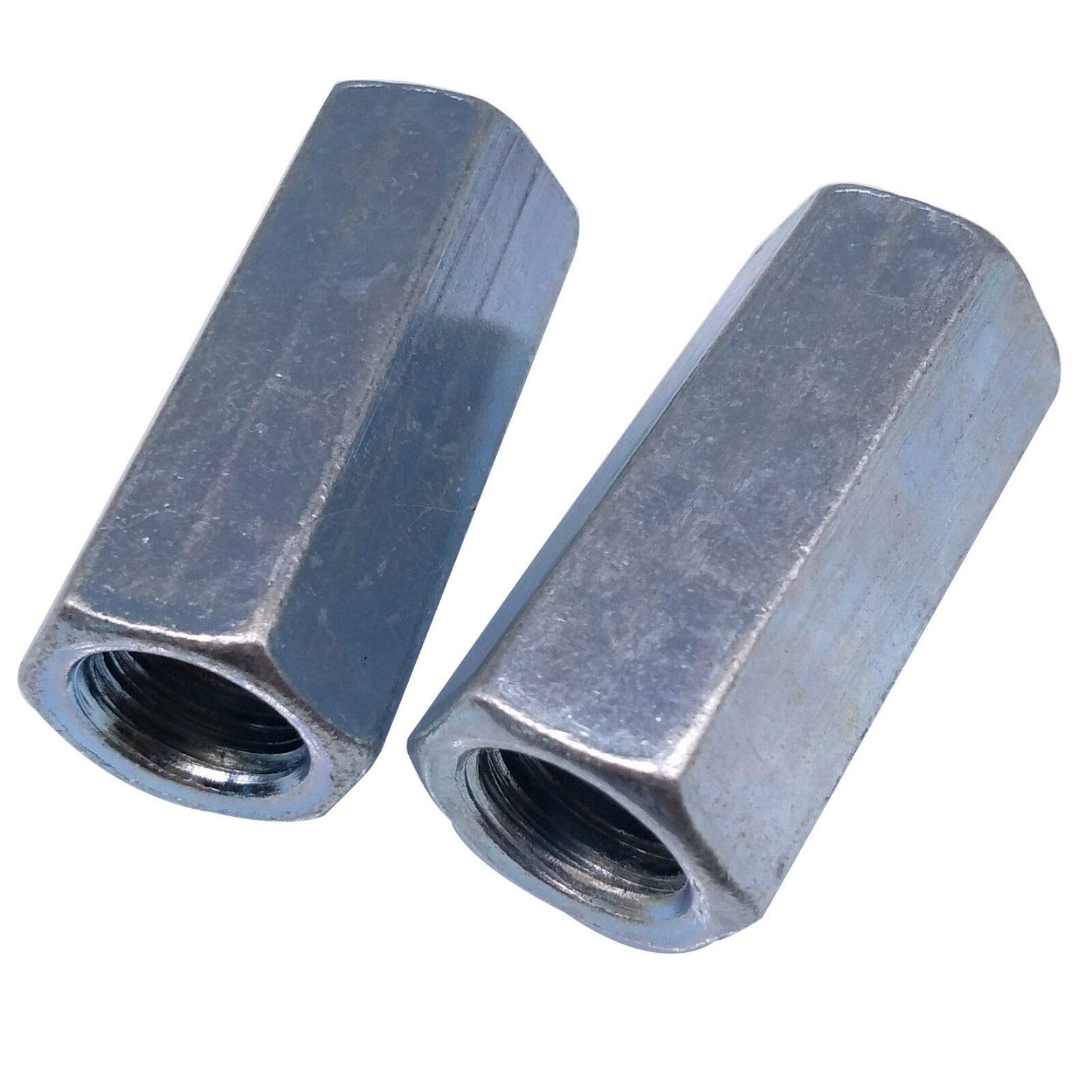 ees.Long Rod Coupling Hex Nut Connector Zinc Plated M16 x 2 x 49mm Stock 2pcs