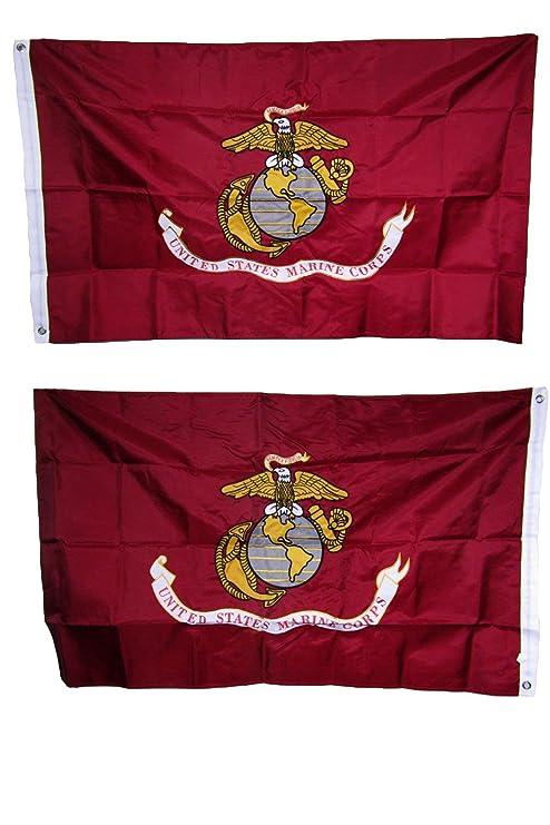 Amazon com : 3x5 Embroidered Sewn Marines Marine Corps USMC