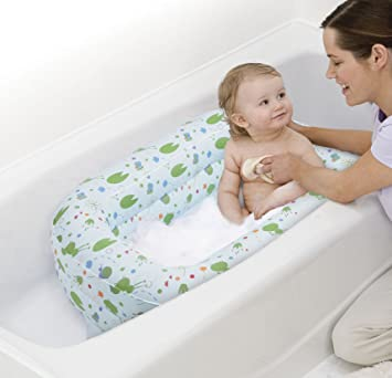 Amazon.com : Safety 1st Kirby Inflatable Tub in Blue : Baby ...