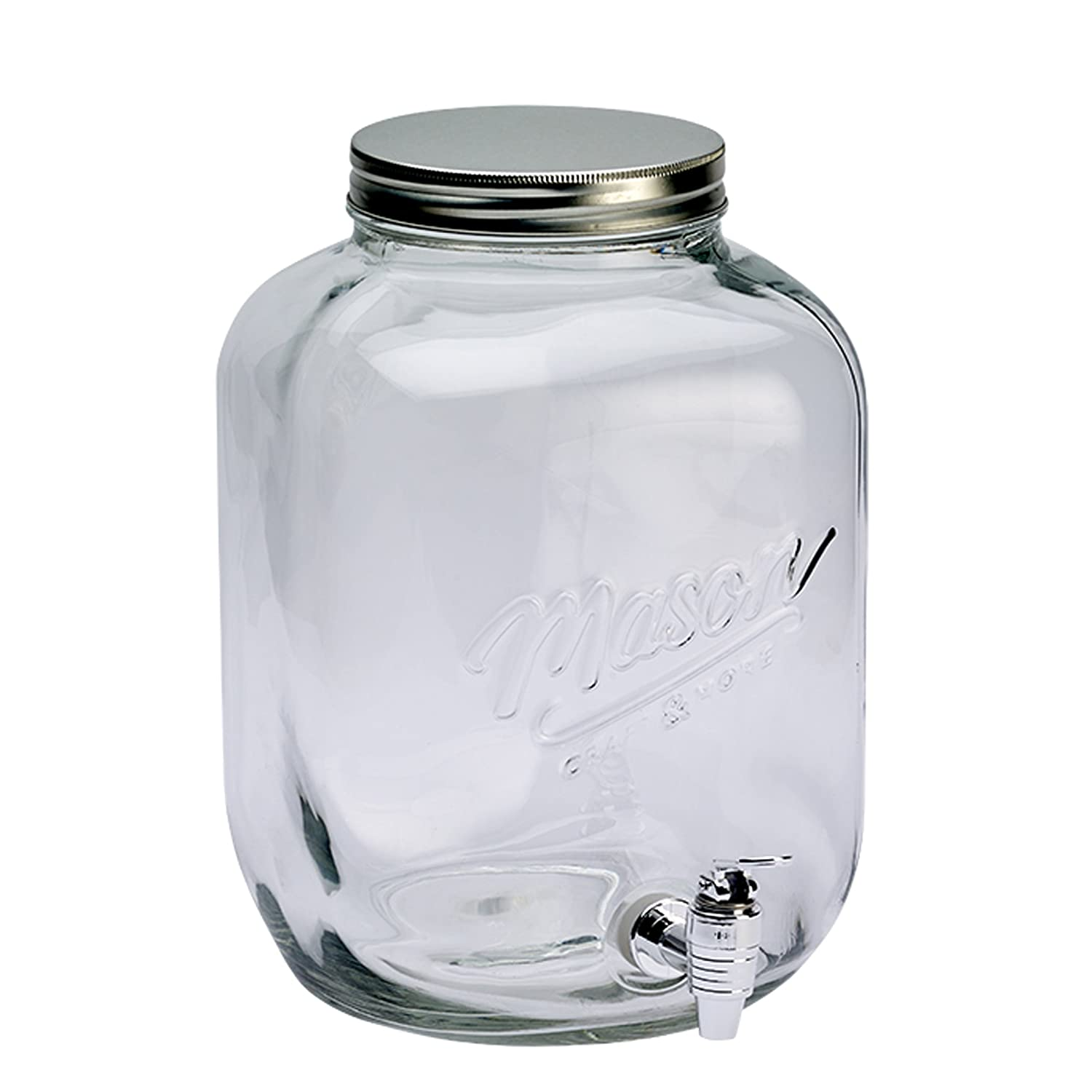 3 Gallon Mason Drink Dispenser With Metal Lid
