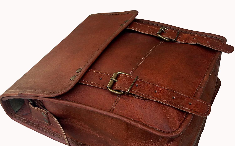 11 Inch Leather Vintage Crossbody Messenger Satchel Bag Gift Men Women ~ Business Work Briefcase Laptop Carry IPad Book by Handmadecraft (Image #3)