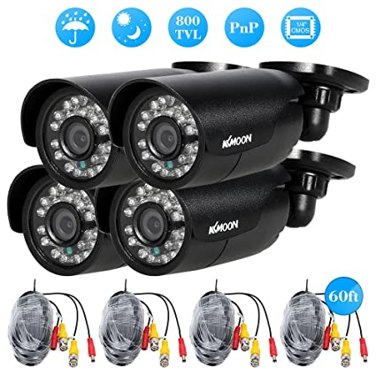 4 piezas 800TVL KKmoon CCTV para exteriores/interiores cámara de vigilancia de vídeo de seguridad