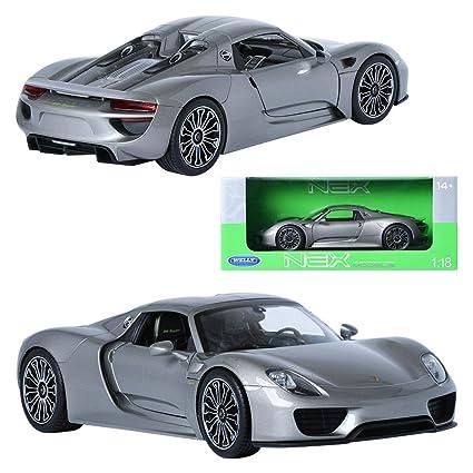 WELLY NEX~Porsche 918 Spyder Concept~Scale Model~1:34~NEU Blechspielzeug