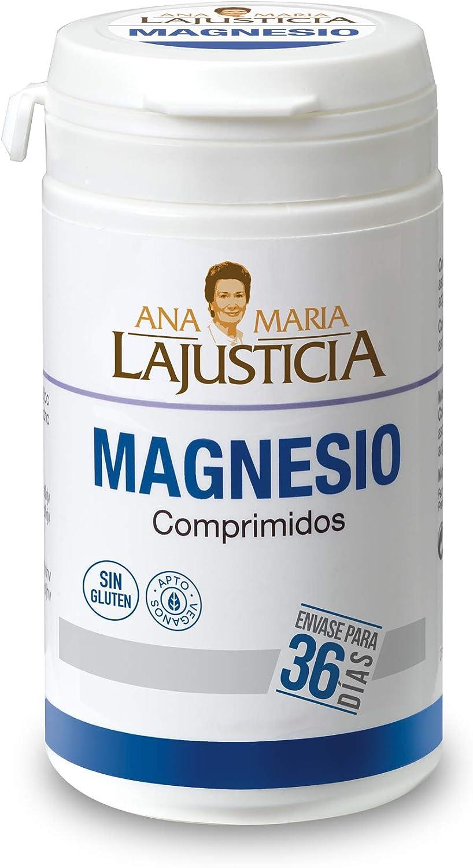 Ana Maria Lajusticia - Cloruro de magnesio – 147 comp. Disminuye el cansancio y la fatiga, mejora el funcionamiento del sistema nervioso. Apto para veganos. Envase para 36 días de tratamiento.
