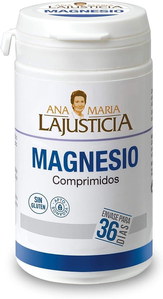 Ana Maria Lajusticia - Cloruro de magnesio – 147 comp. Disminuye el cansancio y la fatiga, mejora el funcionamiento del sistema nervioso. Apto para veganos. Envase para 36 días de tratamiento.: Amazon.es: