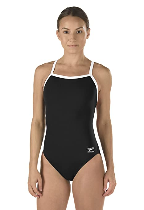 422c4a30cb Speedo Women's Race Endurance+ Polyester Flyback Training One Piece Swimsuit,  Black, 26: Amazon.in: Sports, Fitness & Outdoors