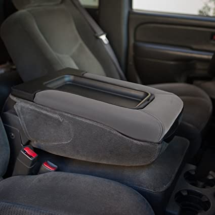 Amazon grey center console armrest cover lid with synthetic grey center console armrest cover lid with synthetic leather for chevrolet chevy silverado 2001 2007 sciox Choice Image