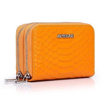 APHISONUK Cartera para Mujer RFID Bolsa de Moda Cuero Billetero con Cremallera Monedero para Tarjeta de crédito Empaquetado con Caja de Regalo: Amazon.es: ...