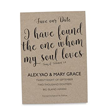 Amazon LoveAtEverySight Save The Date Cards Bible Verse Theme