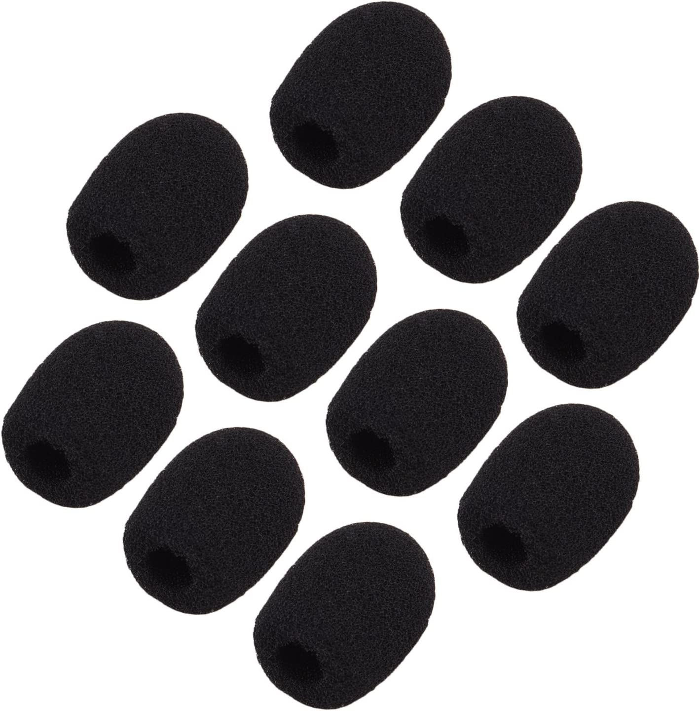 Yiyaqeanca 5Pcs Headset Replacement Foam Microphone Cover Mic Cover Windshield Headset Wind Shield Pop Filter Mic Cover Foam Mic Cover