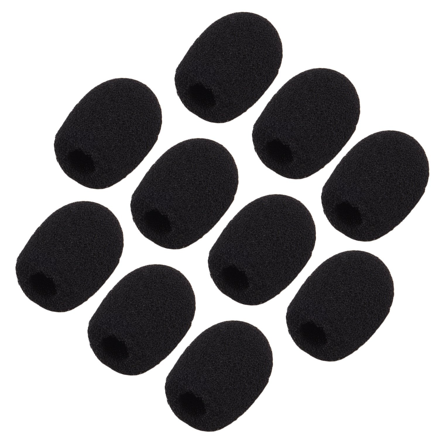 Sunmns ch05-cover Bonnettes/mousses de micro, micro-casque et micro cravate, Noir, lot de 10 SunmnDirect