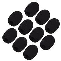 Sunmns ch05-cover Bonnettes/mousses de micro, micro-casque et micro cravate, Noir, lot de 10