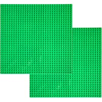 """EKIND 2 PCS Self Adhesive lassic Building Baseplates 10"""" x 10"""" Compatible with Lego Brickyard Building Blocks, Perfect for Activity Table or Displaying Compatible Construction Toys (Blue)"""