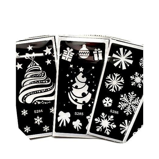 Juego de 6 plantillas de tatuaje con purpurina para Navidad ...