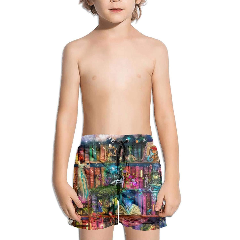 Ouxioaz Boys Swim Trunk So Many Books Clipart Beach Board Shorts