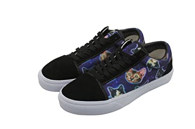 7137cae0c cozyshoeson Galaxy Cats Kitty Mens Casual Sneaker Lace up Shoe (7.5 D(M)