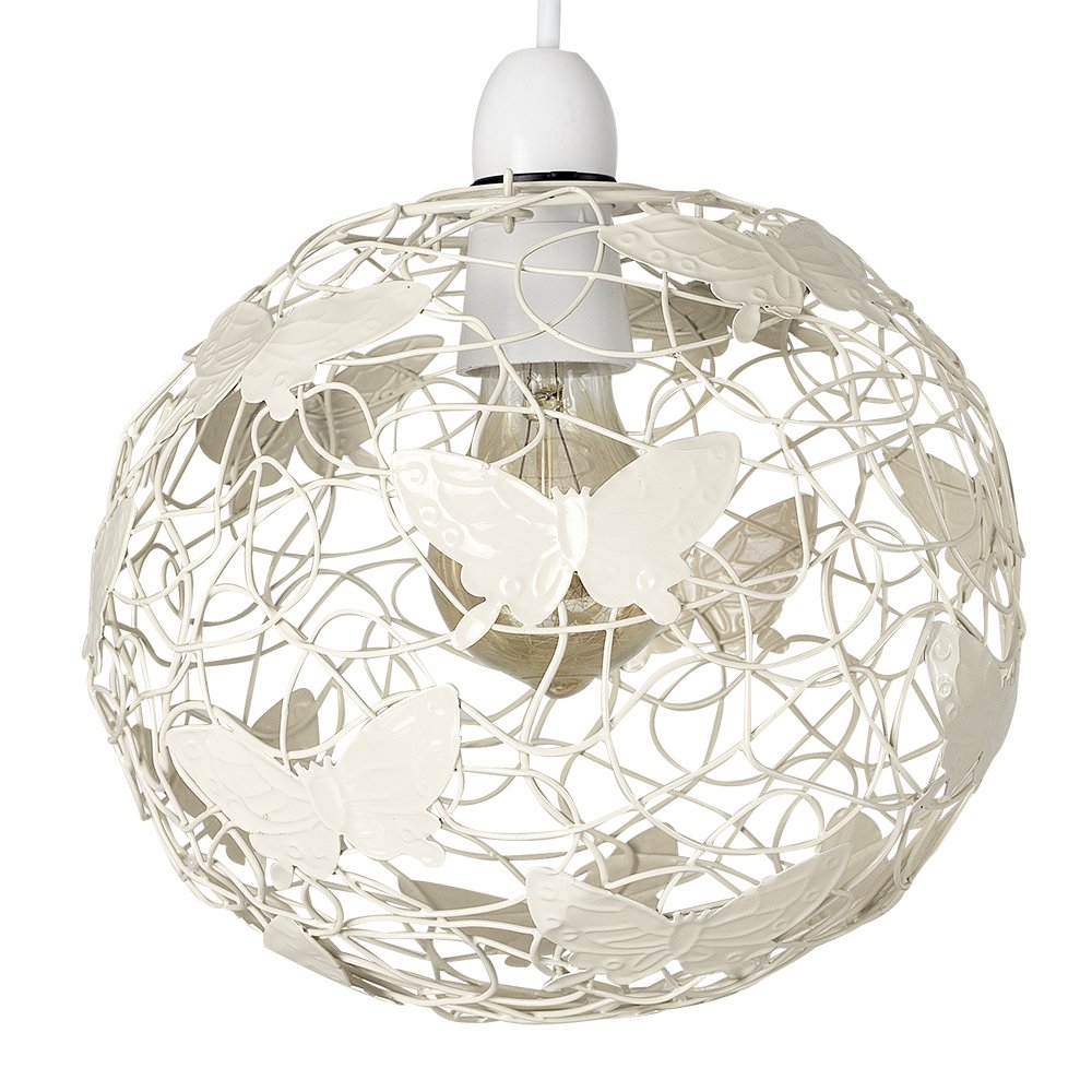 design classics lighting modern hanging globe. Modern Cream Wire Frame Globe Ceiling Pendant Light Shade With Decorative Butterflies: Amazon.co.uk: Lighting Design Classics Hanging H