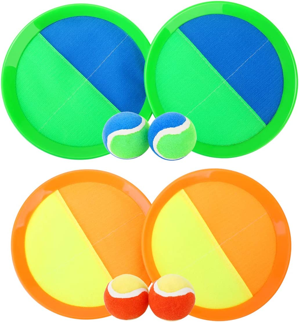 Paddle Toss And Catch Ball Set Upgraded Version 8 Inch Paddle Catch Games Toy Fo