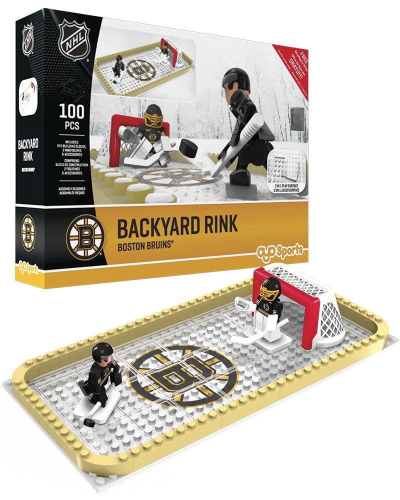 amazon com nhl backyard rink oyo set 100 piece toys u0026 games