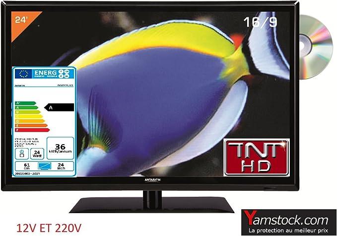 Televisión TV + DVD LED 23.6
