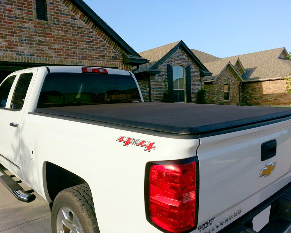 Maxmate Tri Fold Truck Bed Tonneau Cover Works With 2014 2015 Chevy Silverado Accessories 2019 Gmc Sierra 1500 2018 2500 3500 Hd