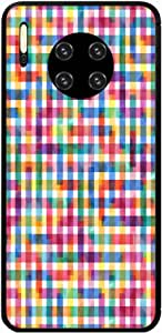 Okteq Hard back cover with side TPU bumper Back Cover Compatible with Huawei Mate 30 Pro - pixel multicolors By Okteq